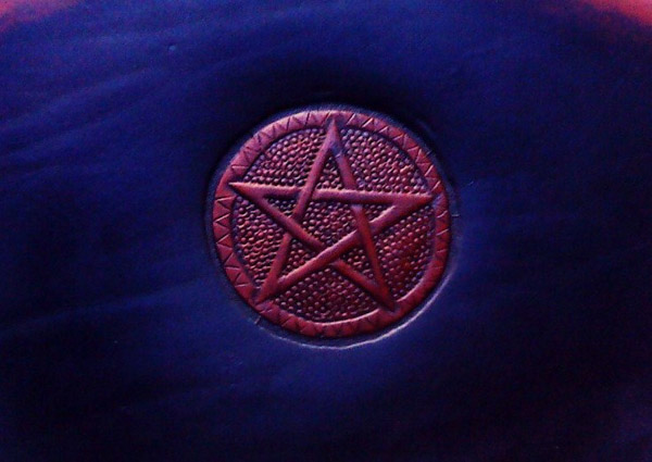 Lederwelten Pentagramm groß Muster