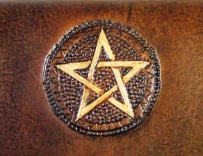 Lederwelten Pentagramm klein Muster