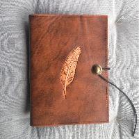 Lederwelten A5 Feder Buch