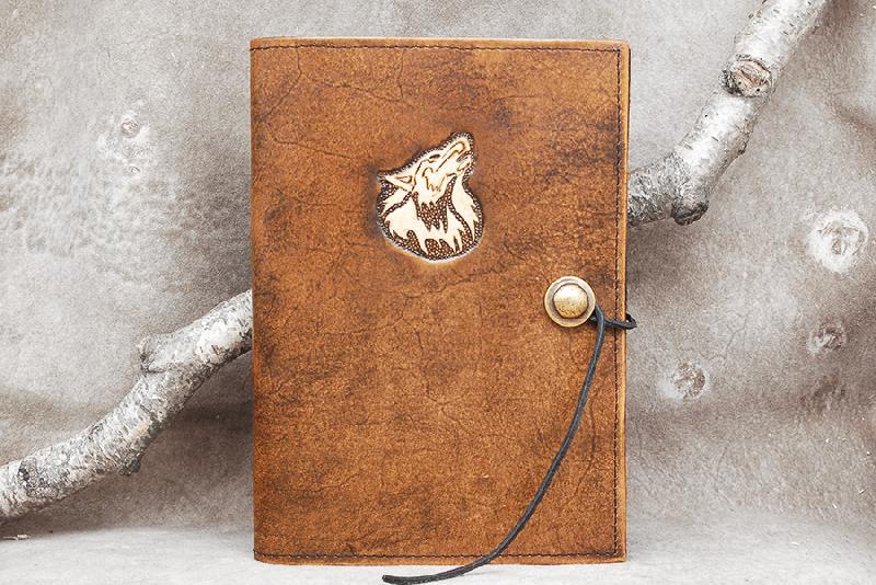 Lederwelten A5 Wolf Buch