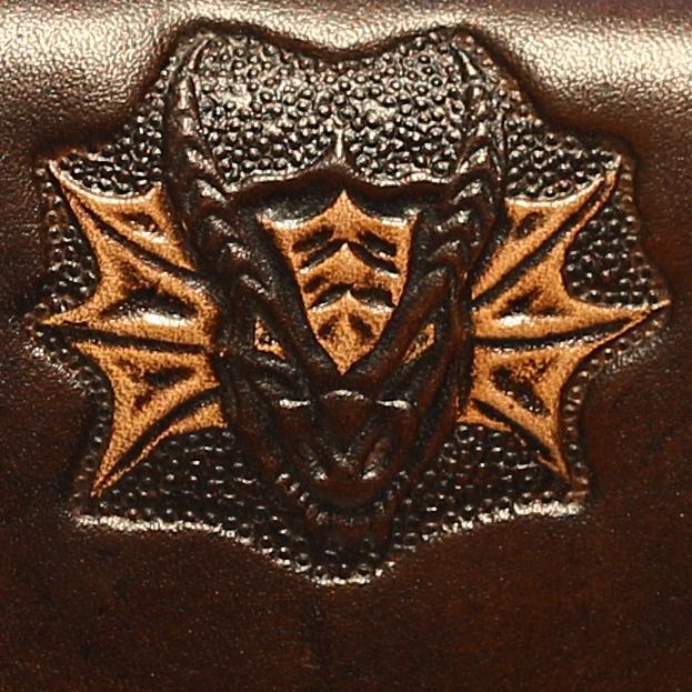 Lederwelten Drachenkopf Muster