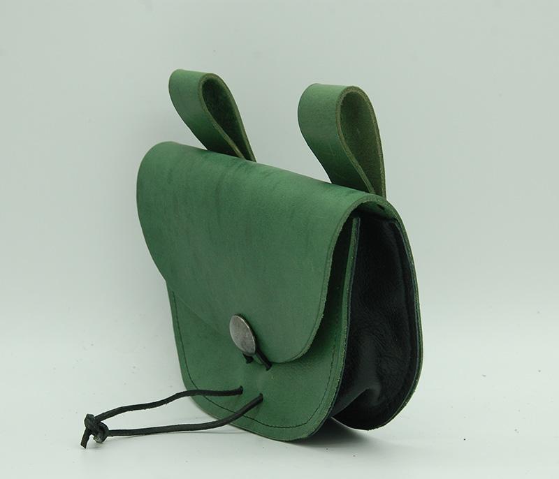 Lederwelten Gürteltasche Gürteltaschen grün