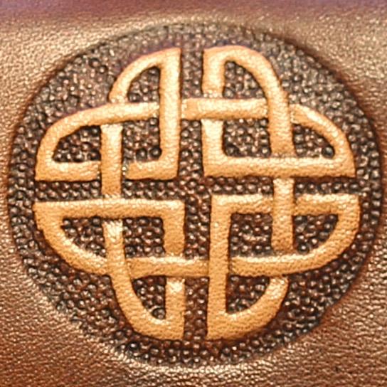 Lederwelten keltischer Knoten rund Muster
