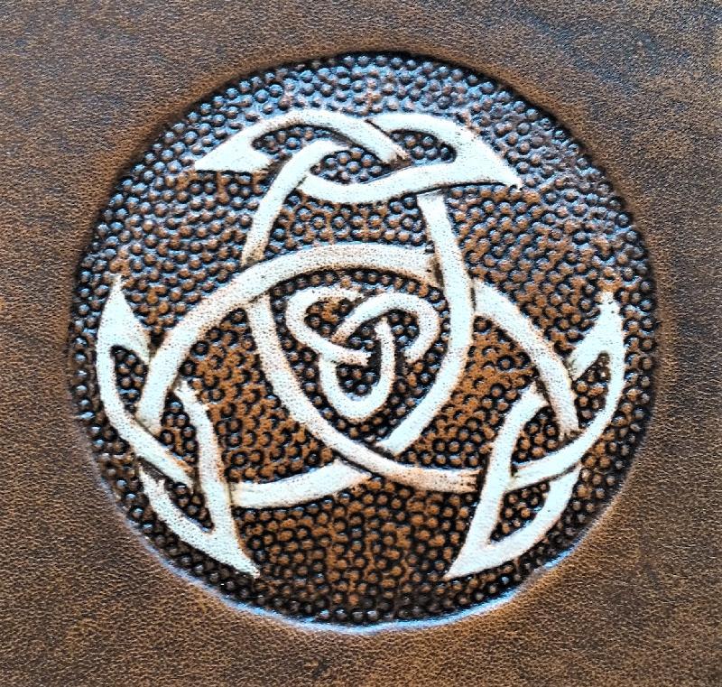 Muster keltischer Knoten Triade