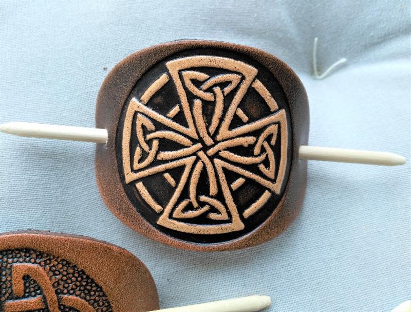 Haarspange keltisches Kreuz