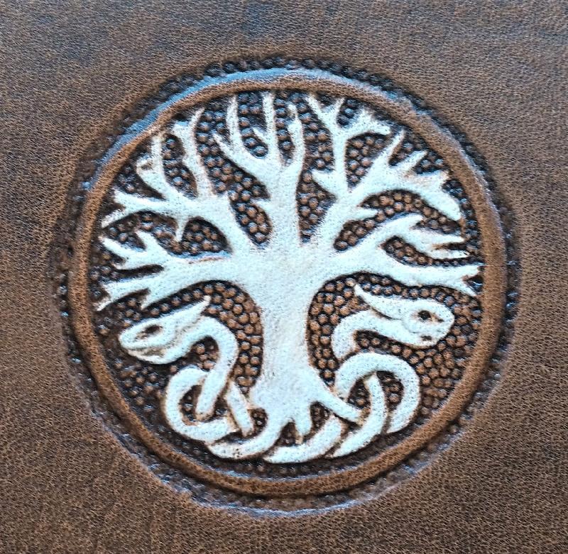 Lederwelten Lebensbaum Haarspange