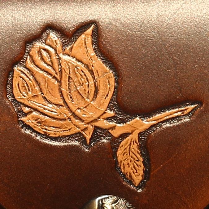 Lederwelten Rose Muster