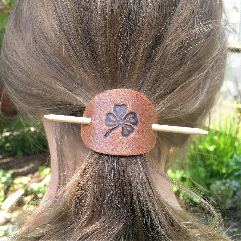 Haarspange Shamrock