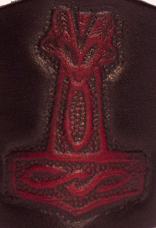 Lederwelten Thor Hammer Widderkopf Muster