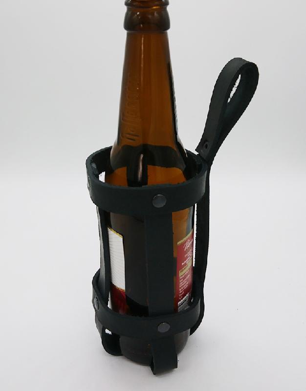 Lederwelten Universal Flaschenhalterung Spezielles schwarz