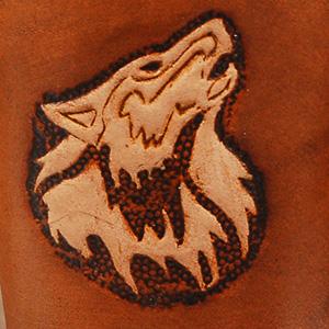 Lederwelten Wolf Würfelbecher